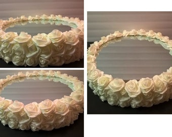 18 inch Roses Mirror Wedding Cake Stand