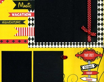 Magic Vacation Adventure - Premade Scrapbook Page