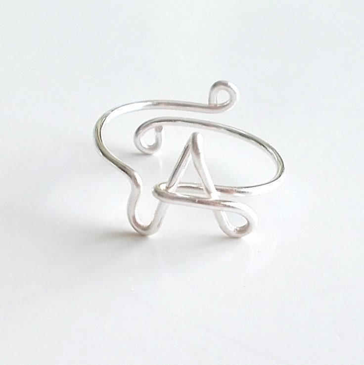 Ring Wire Name Ring Initial Ring Word Ring Personalized