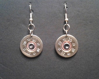 20 Gauge Rio, Wire Earrings - Single or Pair - Hand Made From real shotgun shells