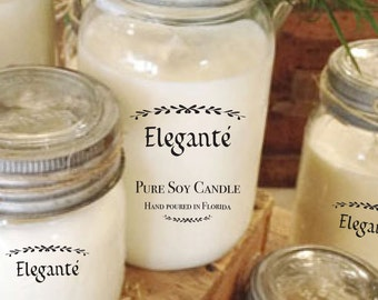 Personalized Candle Labels, Candle Labels, Custom Candle Labels, Candle Stickers, Clear Stickers, Clear Labels