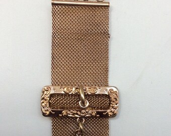 Gold filled pocket watch chain with indian fob tote feather band