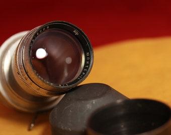 """Soviet lens (ols) Jupiter - 11. (4/135) Red """"P"""". LOMO KMZ. Mount KONVAS"""