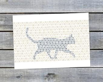 Postcard {Blue Cat}