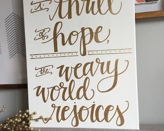 A Thrill of Hope--O Holy Night Lyrics Christmas Canvas