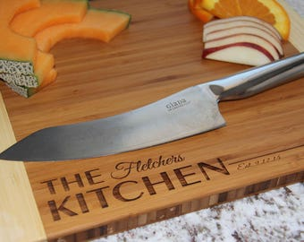 "Personalized Bamboo Cutting Board - 11""x14"" - 11 Designs Available"