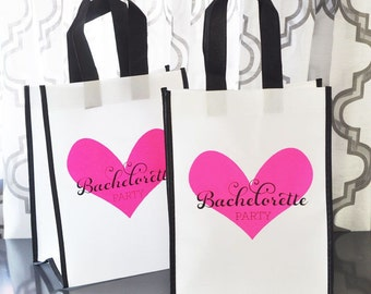 Bachelorette Party Bags, Bachelorette Favor Bags, Bridesmaids, Maid of Honor - 6 pieces