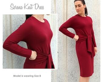 Serena Knit Dress - Sizes 4, 6, 8 - Women's knit dress PDF Sewing Pattern by Style Arc - Sewing Project - Digital Pattern