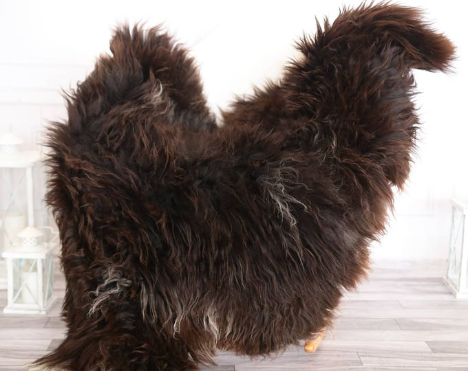 Sheepskin Rug   Real Sheepskin Rug   Shaggy Rug   Chair Cover   Sheepskin Throw   Brown Sheepskin   CHRISTMAS DECOR   #OCTHER30