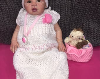 Newborn Cat Cocoon and Hat Crochet Set Baby Girl Sleep Sack with Kitty Cat Hat Photo Prop