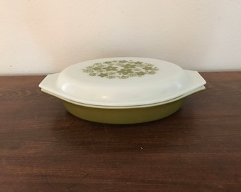 Crazy Daisy Pyrex Divided Casserole Dish