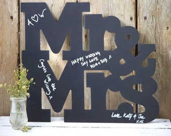 Wedding chalkboard letters