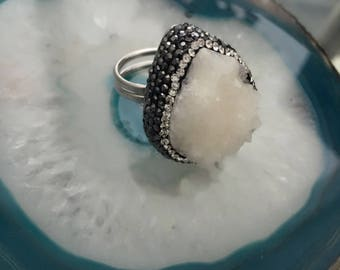 CrystalDust Iceberg Ring