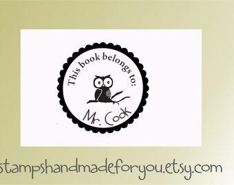 Teacher rubber stamper Personalized Teacher Self ink Custom Made Return Address Rubber Stamp great gift