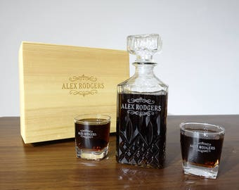 Groomsmen Gifts, Whiskey Decanter Personalized, Mens Gift, Boyfriend Gift, Christmas Gift