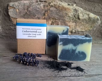 Cedarwood & Lavender Soap, Palm oil free, Cold process soap, Vegan