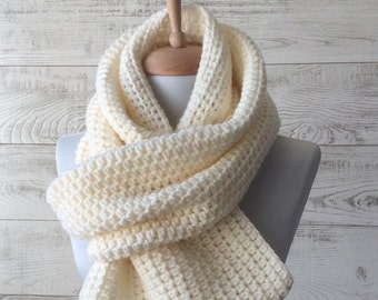 Mens scarf, oversized knit scarf, mens knit scarf, oversized knit scarf, christmas gifts, large knit infinity scarf / FAST DELIVERY