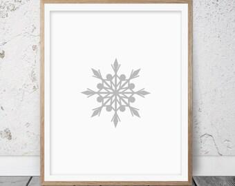 Snowflake print, Snowflake printable, Instant download, Winter decor, Winter art, Snowflake wall art, Snow art, Snow art print, Winter, 068
