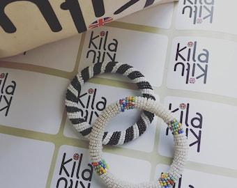 Handmade Kenyan beaded bracelets