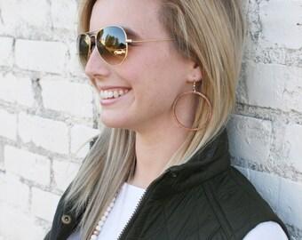 Joanna Gaines Inspired Earrings - Wood Hoops - Hoop Earrings