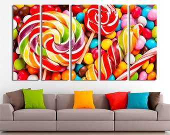 Candys art, Candys photo, Restaurant Decor, Food Print, Food Photography, Canvas Art, Canvas Print, Kitchen canvas, Kitchen Decor, Canvas
