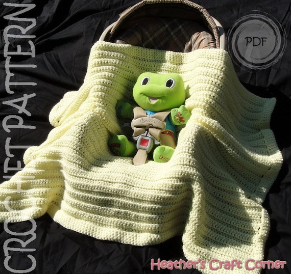 Crochet Pattern Simply Sweet Car Seat Stroller Baby Blanket From