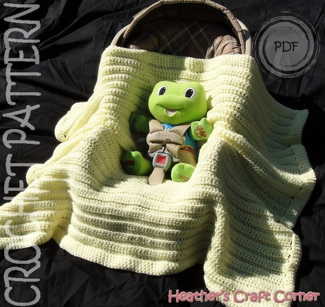 Crochet Pattern Simply Sweet Car Seat Stroller Baby
