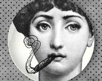 Smokes Lina Cavalieri Plate