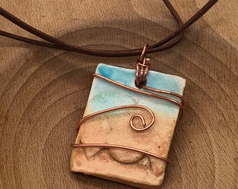 Mountains and Sky Necklace