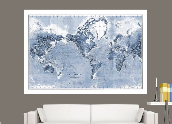 Huge detailed world wall map world map on canvas 1910 like this item gumiabroncs Images