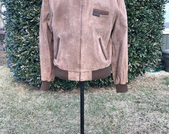 Vintage 1980s Genuine Suede Members Only Jacket, Size 46