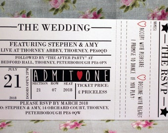 Wedding Invite and RSVP