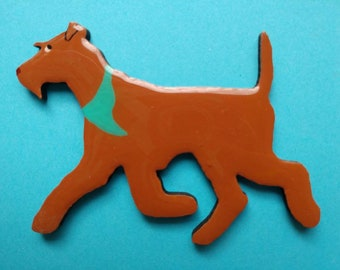 Irish Terrier Pin, Magnet or Ornament -Free Shipping -Hand Painted