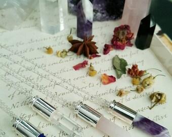 Gypsy Jewelry - Healing Gemstones - Raw Crystals - Bullet Necklace - Bullet Jewelry - Healing Crystal - Metaphysical Jewelry - Wiccan  Pagan