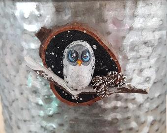 Winter Owl Magnet - 031