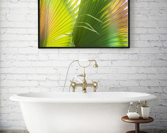 Tropical decor, tropical printables, instant downloads, jungalow, palms, palm fronds, large poster size, art printables, tropical art,