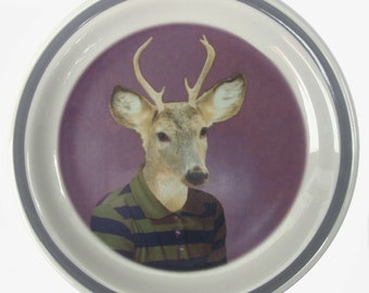 SALE - Bucky, School Portrait plate 6.75""