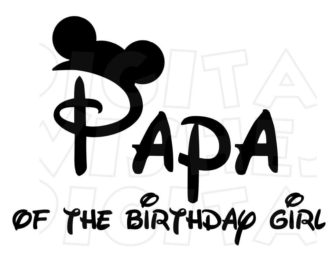 Minnie mickey mouse ears papa of the birthday girl digital zoom biocorpaavc