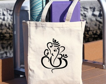 yoga tote bag, tote bag, ganesha ,Tote, mat bag, yoga accesories, bag, carry bag, canvas bag, canvas, #T8