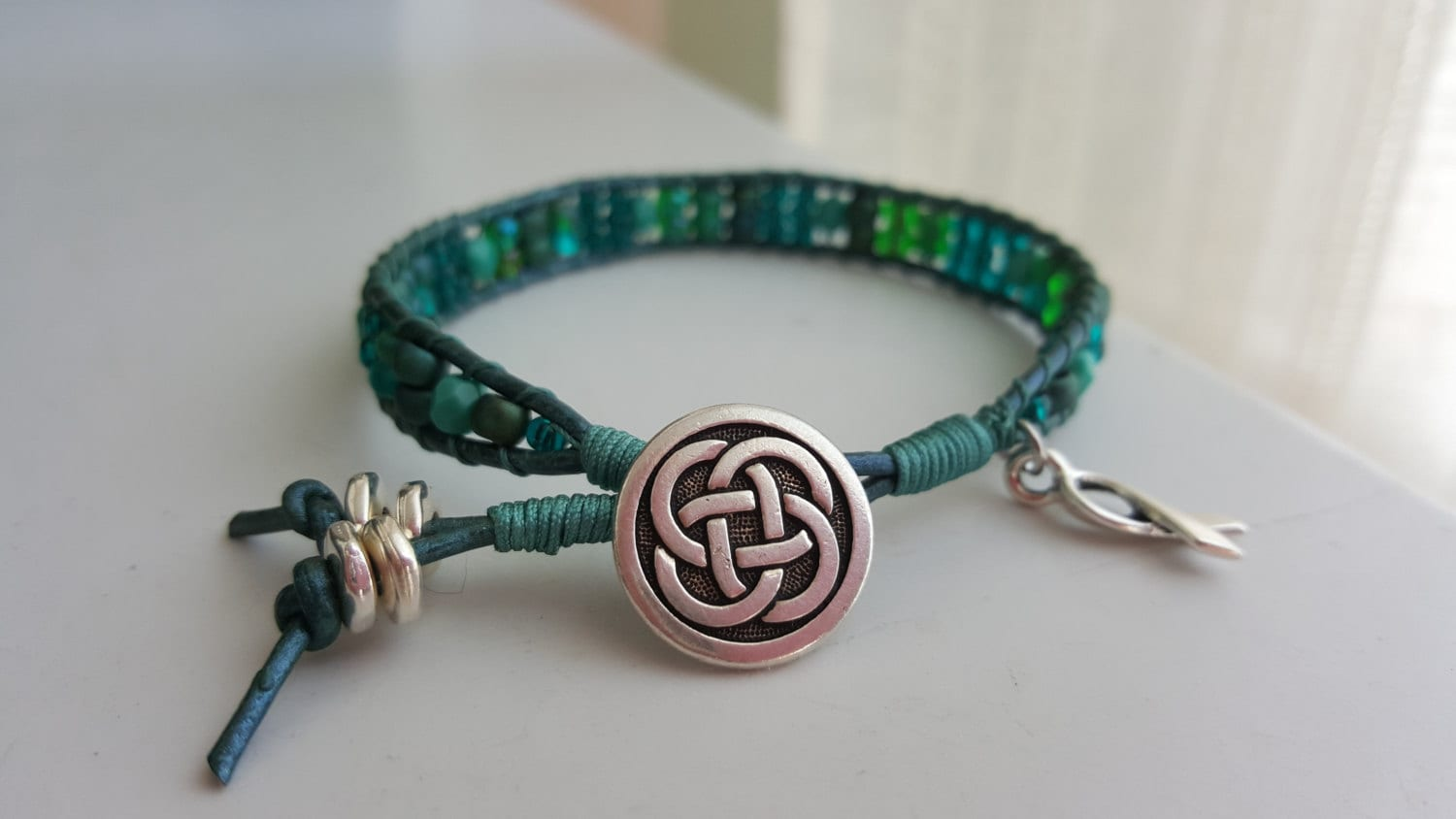 listing il gravis bracelet teal myasthenia ocd leather awareness ptsd zoom fullxfull
