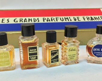 French Perfume  - Vintage mini bottle set