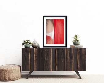 red Abstract art, red Abstract print, red Modern art, Giclee print, red Contemporary art, red Wall art, red abstract painting