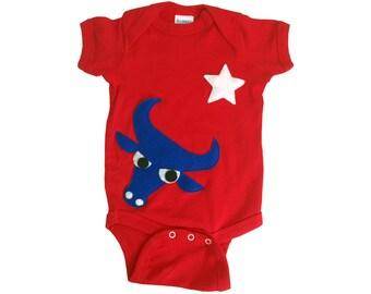 Texas Longhorns Baby Bodysuit - We Love Texas! - Red Infant Bodysuit - Baby Shower Gift