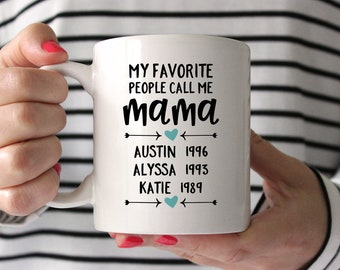 Personalized Mothers Day Gift from Husband Mothers Day Gift from Daughter Mom Gift Mom Birthday Gift for Mom from Daughter Coffee Mug Aqua
