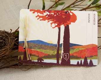 Craftsman Fall Appalachian Mountains Wedding Livret Booklet Invitation: Get Started Deposit