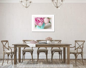peonies print botanical print peony photograph blush pink peony art romantic peonies wall art cottage chic pink home decor gift for her