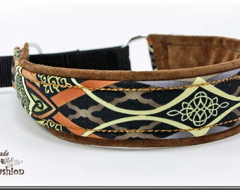Dog collar AFRIKA, Martingale, brown