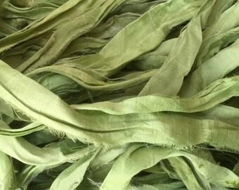SARI SILK RIBBON - Celery