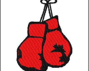 Boxing Glove Mitt Embroidery Design