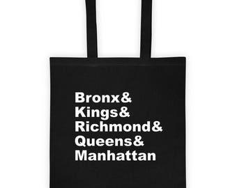 New York City Counties - Tote bag